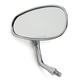 Chrome Mini Oval Yamaha Reverse Thread Classic American Style Mirror - 0640-0948