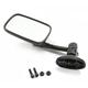 Black Mini Rectangle Short Stem Fairing Mount Mirror - 0640-0976