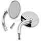 Chrome Round Perch Mounted Utility Mirror - UP-CIR-HD-CP