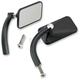Black Powder-Coat Rectangular Perch Mounted Utility Mirror - UP-REC-HD-BK