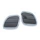 Chrome Tri-Line Speaker Grills - 7378