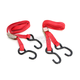 Red Heavy Duty 7 ft. Cam Buckle Tie Downs - 3920-0422