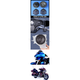 Rokker XXR 6.71 in. Fairing  Speaker Kit w/High-Output Grill Mounted Tweeters - HCRK-6712TW-XXR