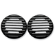 Black Finned Ultra Rear Speaker Grills w/Diamond Edge - C0022-D