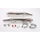 Tri-Oval Race (TRS) Slip-On Muffler w/Polished Stainless Steel Muffler Sleeve - 1230265