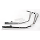 4-into-2 All Chrome Megaphone Exhaust System - 001-3409