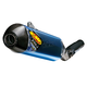 Factory 4.1 RCT Blue Anodized Titanium Slip-On Muffler w/Carbon Fiber End Cap - 043350
