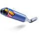 Blue Anodized Titanium/Carbon Fiber Factory 4.1 RCT Slip On Muffler - 042333