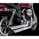 Mid-Length 2 1/2 in. Rebel Chrome Drag Pipe Staggered Slash-Cut for 96+ inch Engines -