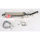TRC Tri-Oval Slip-On Muffler with Polished Stainless Steel Muffler Sleeve - 1321275