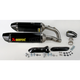 Hexagonal Slip-On Muffler with Carbon Fiber Muffler Sleeve - S-Y10SO9-ZC