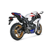 Racing Line Exhaust System w/Hexagonal Carbon Fiber Muffler - S-H10R7-TC