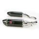R77 Carbon Fiber Dual Mufflers - 11170E0220
