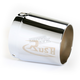 3 1/2 in. Left Tapered Logo Performance Exhaust Tip - 3522-R1L