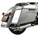 Chrome 4 in. Rotatable Slash Slip-On Mufflers - LA-1094-03