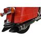 Black 4 in. Rotatable Slash Slip-On Mufflers - LA-1194-03
