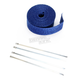 Blue 2in. x 25ft. Exhaust Pipe Wrap W/ Silver Tie Wraps - CPP/9066