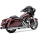 Chrome Tri-Flo Slip-On Mufflers w/Gloss Black Tips - 6212CB