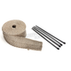 Natural/Metallic 2 in. X 25 ft. Exhaust Pipe Wrap W/ Black Tie Wraps - CPP/9065BL