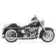 Chrome True Duals w/30 in. Fishtail Mufflers and No Baffles - 1S36E-30