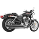 Black Patriot Slash Down Long Exhaust System - HD00119