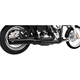 Black Union 2-Into-1 Exhaust System - HD00111