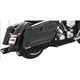 Black True Duals Racing Exhaust System - HD00206