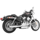 Chrome Signature Series Slip-On Mufflers with Black Tips - HD00198