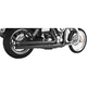 Black Independence Long Exhaust System - HD00068