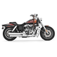 Chrome Signature Series Slip-On Mufflers with Black Tips - HD00195