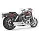 Chrome Racing Slip-On Mufflers with Black Tips - HD00319