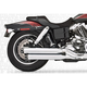 Chrome Signature Series Slip-On Mufflers with Black Tips - HD00188