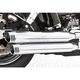 Chrome Racing Slip-On Mufflers - HD00312