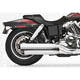 Chrome Racing Slip-On Mufflers with Black Tips - HD00313