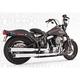 Chrome Racing Slip-On Mufflers with Black Tips - HD00315