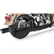 Black True Duals Signature Exhaust System with Black Tips - HD00221