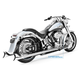 Black 36 in. True Dual Sharktail Signature Exhaust System - HD00329