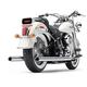 Chrome True Duals Exhaust System w/Billet Tips - 6985
