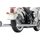 Chrome True Duals Exhaust System w/Fishtail Tips - 6989