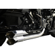 Chrome Fusion Exhaust System w/Black Heat Shields and Chrome Tips - LA-F100-01