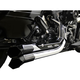 Chrome Fusion Exhaust System w/Black Heat Shields and Tips - LA-F100-02