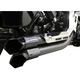 Black Fusion Exhaust System w/Chrome Heat Shields and Black Tips - LA-F100-01B