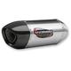 Stainless/Stainless/Carbon Fiber Alpha Signature Series Slip-On Muffler - 13141EM520
