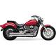 Hot Rod Speedster Short Exhaust System w/Powerport  - 2717T