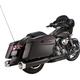 Black Performance Mufflers w/Chrome Thruster End Cap - 550-0622