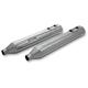 Chrome Straight Slip-On Mufflers - 30100