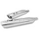 Chrome SPO Touring Mufflers w/Chrome End Caps - 550-0001A