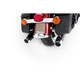 Black Classic Duals w/Chrome End Caps - 100-0303C