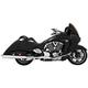 Chrome 4 in. Racing Slip-Ons - MV00013