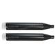 Black 4 in. Slip-On Mufflers w/Chrome End Caps - 500-0105C